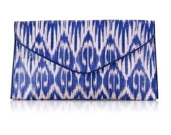 Sale Blue Ikat Clutch
