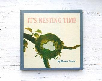 It's Nesting Time . Vintage Children's Book . Birds . 1960's . 1964