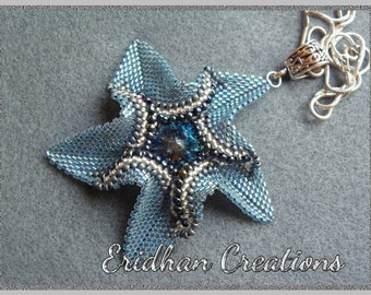 "Beaded pendant ""Twisted Star"" - tutorial"