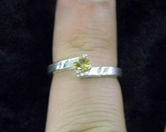 Beautiful Elegant Fashion Fun Dainty Yellow Sterling Silver 925 Ring Size 7 #5730