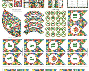 SALE 30% off *** Hungry Caterpillar Birthday Party Printable Package Instant Download