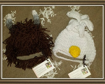 Crocheted Where The Wild Things Are Hat. Hand Made Character Costume hats.