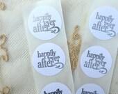 Custom Order for Katie Happily Ever After Silver Embossed Envelope Handmade Stickers/Seals - Set of Twelve
