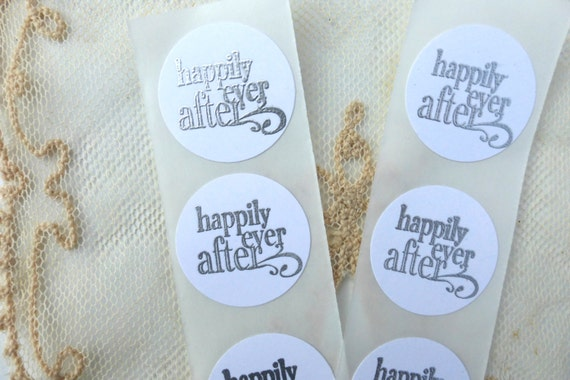 Happily Ever After Wedding Invitations: Items Similar To Happily Ever After Silver Embossed