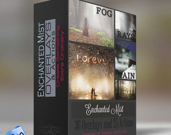 Enchanted Mist - Overlays & PSE-  ELEMENTS  Actions  - 36 Overlays and 25 Actions