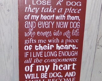It Came To Me That Every Time I Lose A Dog, Pet Lover Gift, Dog Lover Sign, Dog Grief Sign, Painted Dog Sign, Dog Memorial Sign