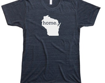 Homeland Tees Men's Wisconsin Home T-Shirt