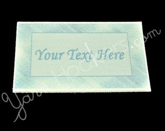 "Blue Steel - ""Iron On"" or ""Sew In"" - Cotton Fabric Labels (White) - For Crochet, Knit, Sew and Quilt Heirlooms"