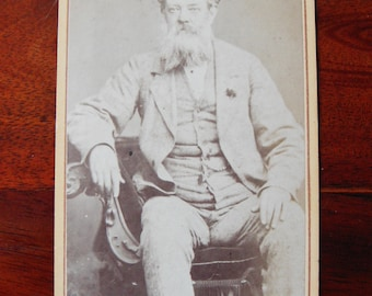 Carte de Visite of old man with beard. Undated