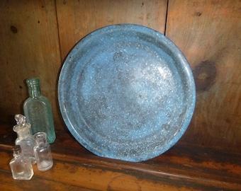 Blue Enamel Plate Rustic