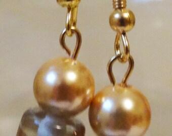 Gold Lampwork Earrings