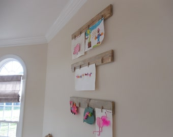 Set of two Wooden photo display boards / Pallet wall / farmhouse decor/ shabby chic wall hanging