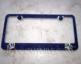 3D Crowns PURPLE QUEEN Swarovski Crystal License Plate Frame by ICY Couture