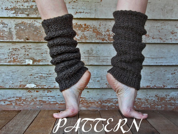 Leg Warmers Knitting Pattern In The Round : FAITHFULNESS - Womens Slouchy Leg Warmers Knitting Pattern - a set of IN...
