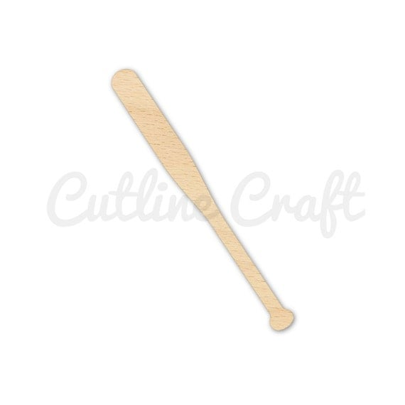 Baseball bat style 1485 cutout shape crafts gift tags for Baseball bats for crafts