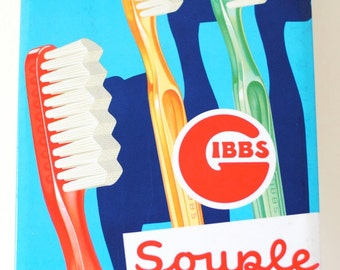 Vintage French Advertising Sign for Toothbrushes