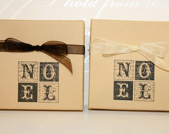 Noel Holiday gift box, Paper gift box, Jewelry gift boxes, Christmas, Decorative gift box
