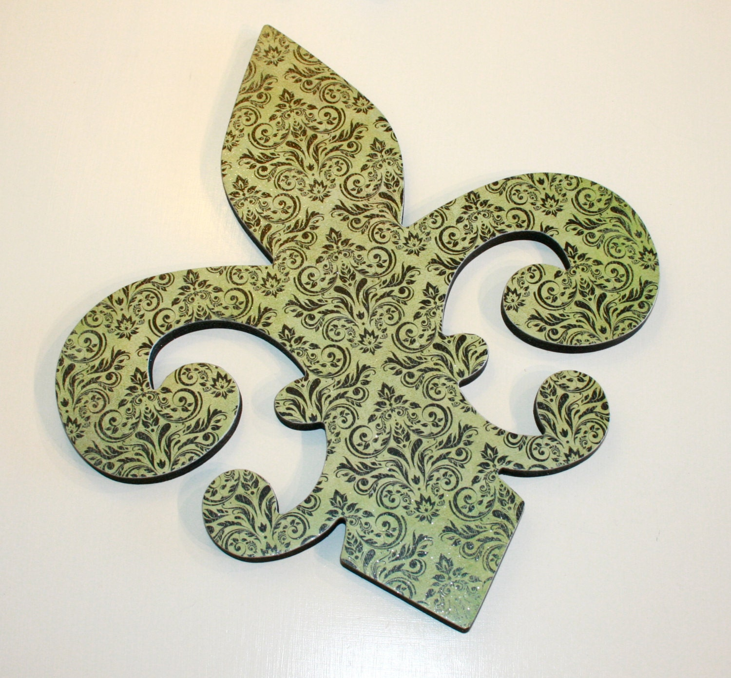 Fleur De Lis Wall Decor Green And Black Wall Decor French