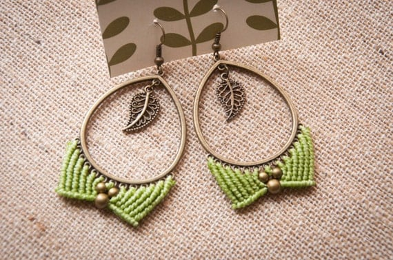Boho elven earrings
