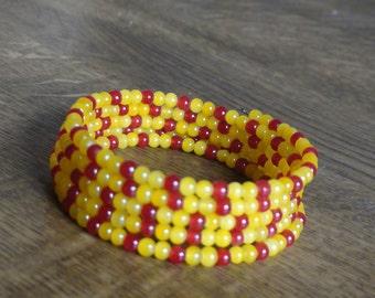 Wrap bracelet . Beaded bracelet.
