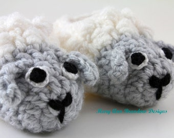 Little Sheep Baby Booties