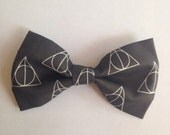 Harry Potter Black Hair Bow/Clip-on Bow Tie - Medium