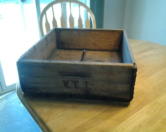 On Sale Shabby Chic Rustic WCT Farms Wooden Fruit Crate or Box Home Decor
