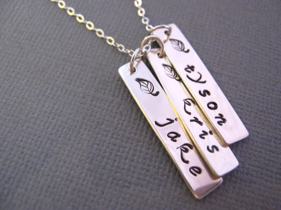 Items similar to Necklace with Childrens Names