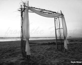 Love Altar in the Sand Fine Art Photograph, Gallery Wall Art, Room Decor, Gift, Love Image, Wedding Print, Beach Photograph, Wedding Alter