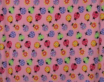 Multi-color Ladybug Double Layer Fleece Blanket