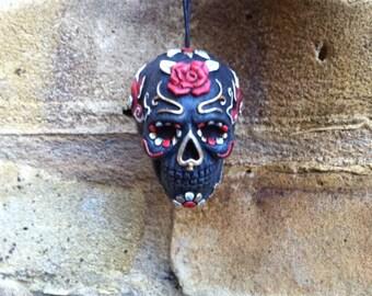 "Mexican Day Of The Dead Sugar Skull Dangler ""Mariachi"""