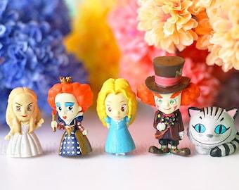 1 pcs / Alice in Wonderland / Alice / Cheshire Cat / Mad Hatter / Kitten /  2.3cm / JP418-JP421