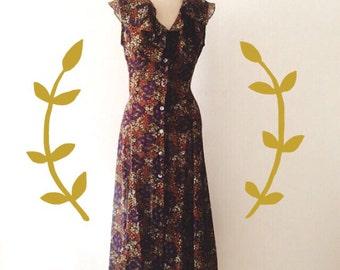 70s Autumn Wilderness Dress