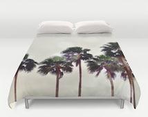 popular items for couette arbre palmier on etsy. Black Bedroom Furniture Sets. Home Design Ideas
