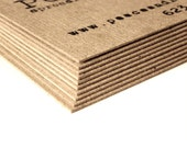 Thick Kraft business cards - Set of 50 - Kraft - Business cards - Brown business card - Kraft business card - Craft - Rustic - Eco friendly