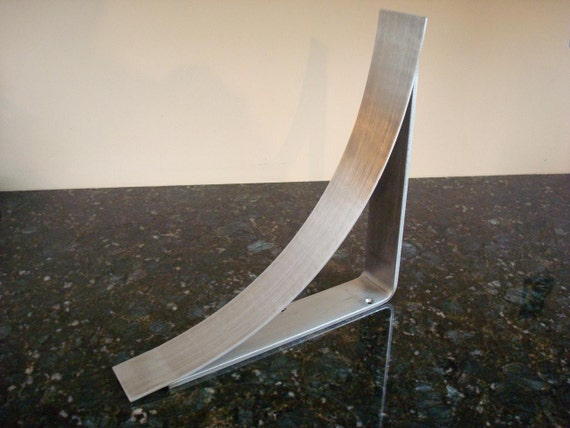 11 inch brushed stainless steel countertop corbel support for Granite overhang without support