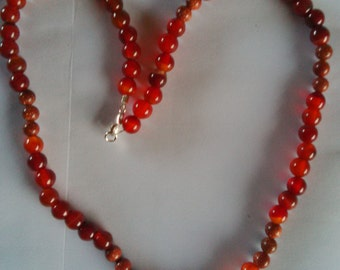 Hand Made carnellion and goldstone semi precious necklace sale price!!