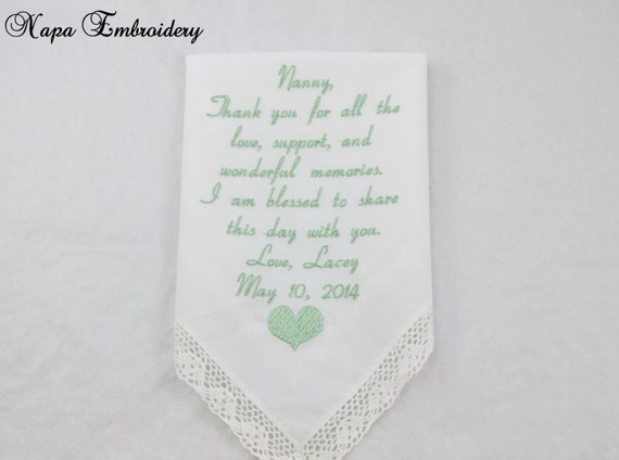 Grandmother Wedding Gift: Wedding Gifts For Grandma Of The Bride By NapaEmbroidery