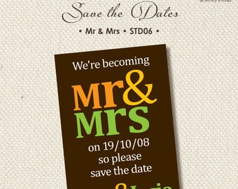 Save The Date Wedding Engagement Mr & Mrs