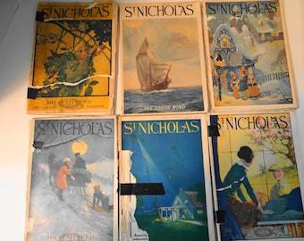 Vintage 1920's St Nicholas Magazines (Set of 6)