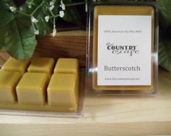 Butterscotch Scented 100% Soy Wax Melt - Smooth Sweet Indulgence -Maximum Scented