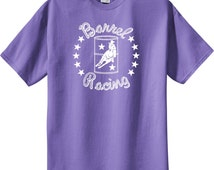 Barrel Racer Star Horse and Rider Violet T-Shirt by CHA