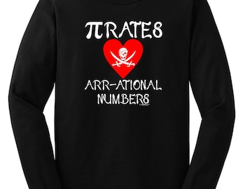 Pirates Love Arr-ational Numbers Long Sleeve  T-Shirt 2400 - WIT-119