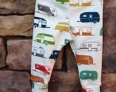 Baby leggings, camper leggings, organic baby leggings, baby boy leggings,happy camper baby