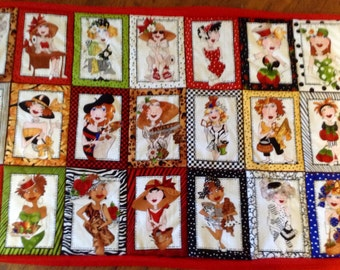 Crafty Ladies Quilted Wall Hanging