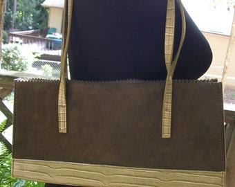 Green Sage Suede Handbag