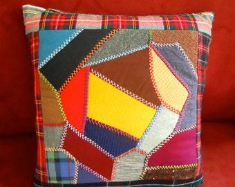 Designer Pillow 13 x 13 Crazy Quilt