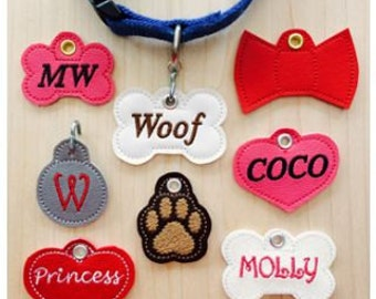 Personalized Embroidered  Pet Tags