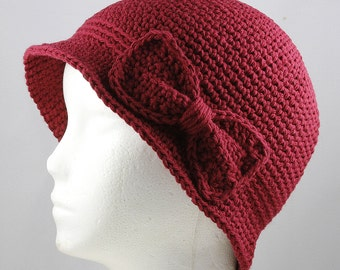 WIne Cloche Hat for Cancer Patients