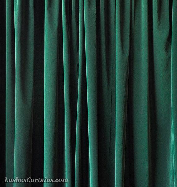 Green Velvet 120 H Curtain Long Panels Large Special